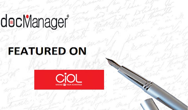 docManager® Featured On CIOL